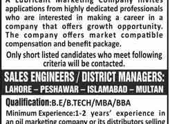 Lubricant Marketing Company Jobs 2020