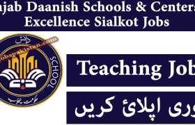 Punjab Daanish Schools & Centers of Excellence Sialkot Jobs 2020