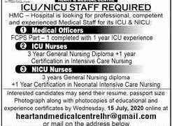 Heart & Medical Center Pvt Ltd Lahore Jobs 2020