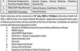 Post-Graduate Training in AJK Health Department 2020