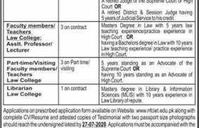 NFC Institute of Engineering and Technology Multan NFC-IET Multan Jobs 2020