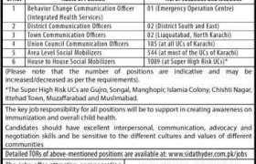 Polio Eradication Team CoMNet Project Karachi Jobs 2020
