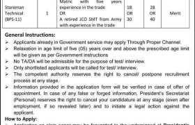 Presidents Secretariat Personal Aiwan e Sadr Islamabad Jobs 2020
