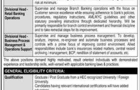 The Bank of Punjab Head Office Lahore Jobs 2020