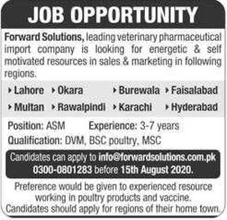 Forward Solutions Pharmaceuticals Jobs 2020