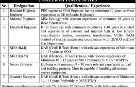 DHA Quetta Jobs 2020