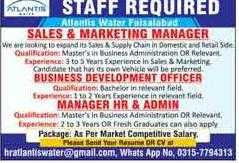 Atlantis Water Faisalabad Jobs 2020