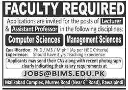 BIMS Rawalpindi Jobs 2020