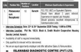 Islamabad Diagnostic Center Pvt Ltd Jobs 2020