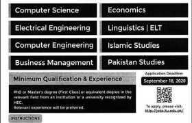 Information Technology University Lahore Jobs 2020