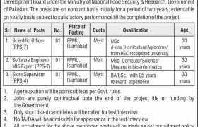 Pakistan Oilseed Development Board Jobs 2020