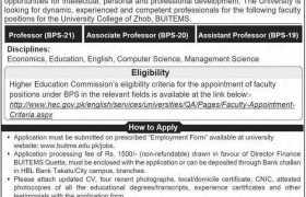 University College Zhob Jobs 2020