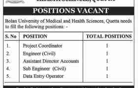 BUMHS Quetta Jobs 2020