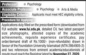 Foundation University Islamabad Jobs 2020