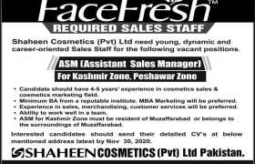 Shaheen Cosmetics Jobs 2020