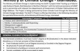 Ministry of Climate Change Internships 2020