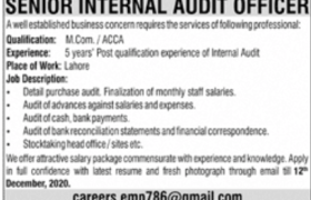 Auditing Jobs Lahore 2020