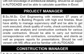 Construction Jobs Lahore 2020