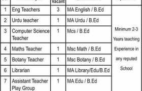 Rangers Public School Bahawalnagar Jobs 2020