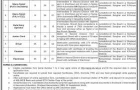 BISE Benazirabad & Nawabshah Jobs 2020