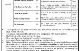 Cantt Board Karachi Jobs 2020