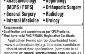 Sharif Medical Institute Jobs 2021