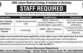 CMH Lahore Jobs 2021