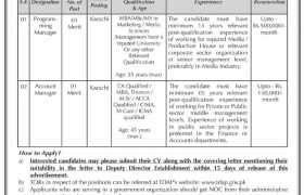 TDAP Karachi Jobs 2021