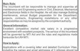 Lady Reading Hospital MTI Jobs 2021