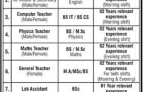 Quaid-E-Azam Rangers School Nawabshah Jobs 2021