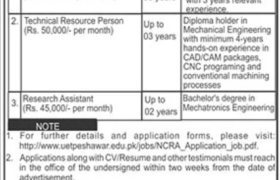 UET Peshawar Jobs 2021
