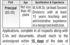 Abbottabad Public School Jobs 2021