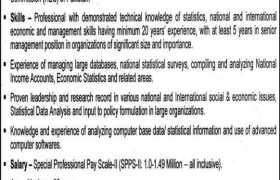 Pakistan Bureau of Statistics Jobs 2021
