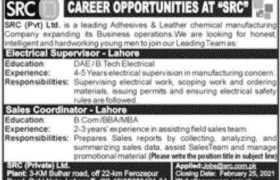 SRC Pvt Ltd Jobs 2021