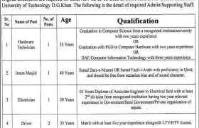 MCKR University DG Khan Jobs 2021