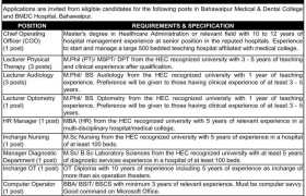 BMDC Hospital Bahawalpur Jobs 2021