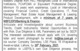 LSE Financial Services Limited Jobs 2021