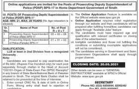 Sindh Public Service Commission Jobs 2021