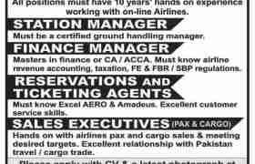 Airline Jobs in Karachi 2021