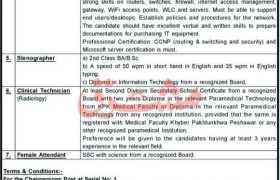 Jobs in Khyber Medical College Peshawar 2021