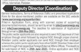 Jobs in SAARC Energy Center Islamabad 2021