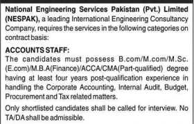 Jobs in National Engineering Services Pakistan 2021
