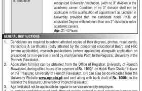 Jobs in University of Poonch Rawalakot 2021