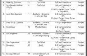 Frontier Works Organization Rawalpindi Jobs 2021