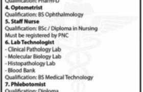 Jobs in Fazaia Ruth Pfau Medical College 2021