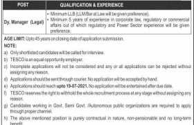 Jobs in TESCO 2021