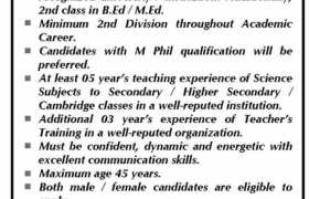 Bahria Institute of Teachers Training Jobs 2021