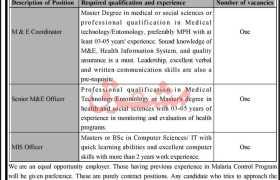 Malaria Control Project Jobs in Kpk 2021