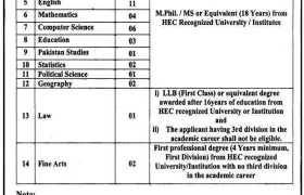 University of Jhang Jobs 2021