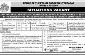 Police Surgeon Hyderabad Office Jobs 2021
